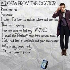 Poem from the eleventh doctor