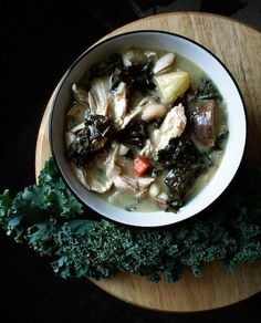 Chicken Stew with Kale and Cannellini Beans