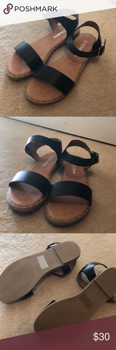 1570917e37a904 Black Weeboo Sandals Brand new! Never worn. Just threw the box out the other