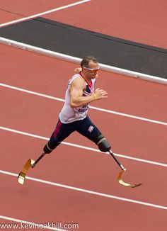 ˚Richard Whitehead on his way to winning the T42 200m, London Paralympic Anniversary Games, Olympic Stadium