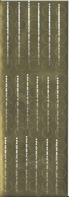 #8005S Gold Foil Dots. Actual size measures 2 7/8 x 8 1/4