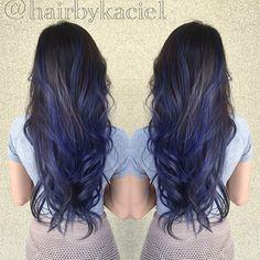 BLUE blue silver gray zsalon hairbykacie mermaid haircolorist