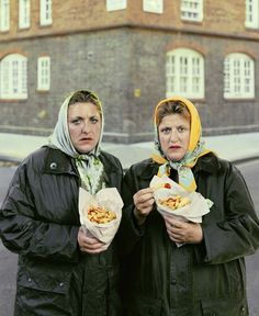 David Stewart: Sisters in scarfs eating Pimlico chips.