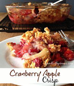 Cranberry Apple Crisp!  Simply perfect fall recipe! <3