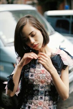 Origami dress worn by Kiko Mizuhara