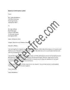 Bank Letter Of Confirmation Bank Letter Of Confirmation