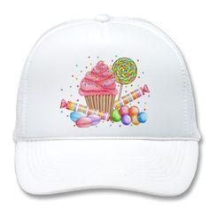 Wonderland Cupcake Candy Lollipop Sweet Tarts Mesh Hats