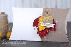 Stampin' Up! - Pillow Box - Global Design Project - Autumn - Herbst - Vintage Leaves - Embossing - Im Wald - Woodland ❤︎ Stempelwiese