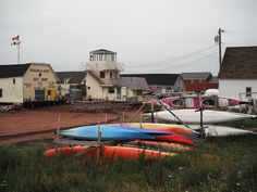 Kayaks at North Rustico waiting to be rented. We didn't rent one this trip, maybe next year. Red Sand Beach, Prince Edward Island, Anne Of Green Gables, Rise Above, New Brunswick, Island Girl, Kayaks, Canada Travel, Nova Scotia