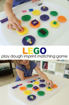 LEGO Play Dough Imprint Matching Game | Mama.Papa.Bubba.