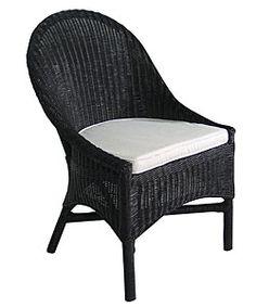 Outdoor Black wicker dining chairs | ... Home & Garden Furniture Dining Room & Bar Furniture Dining Chairs