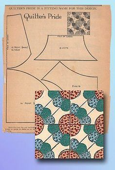 1930s Original Kansas City Star Newspaper Quilter's Pride Quilt Block Pattern | eBay Interesting and kinda cool