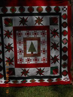 the Christmas Quilt...with EQ's help and the Faithful Quilters and of course Judy...this will be the Fall Festival quilt