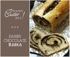 Easier Chocolate Babkas perfect for a quick Easter treat! :)