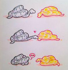 art cute comic snake noodle Ball python snek snoot