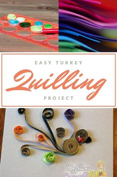 Turkey Quilling Project for a Thanksgiving Note Card Craft