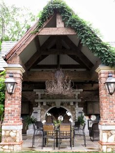 Amazing outdoor fireplace & covered patio