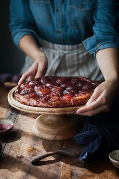 Spiced Wine + Plum Tart Tatin