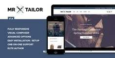 Tailor - eCommerce WordPress Theme for WooCommerce by getbowtied on ThemeForest. Tailor is out! Compatible with the latest WordPress and WooCommerce. Photography Themes, Themes Free, Drupal, Website Themes, Create Website, Food Themes, Wordpress Theme, Ecommerce, Web Design