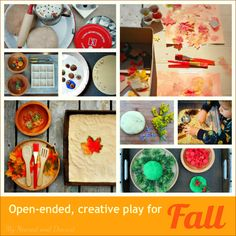 Fall activities for kids. Open-ended, creative play.