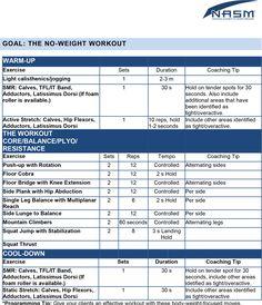 15 best NASM Sample Exercise Programs images on Pinterest | Workout ...
