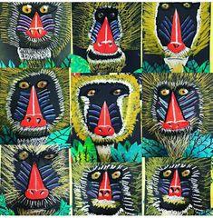 African Art Projects, Animal Art Projects, African Art For Kids, Classroom Art Projects, Art Classroom, Third Grade Art, Grade 2, Afrique Art, Jungle Art