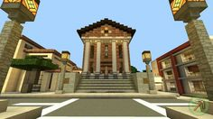 Minecraft townhall #neoclassical #classic #minecraft #town #hall #architecture Easy minecraft houses Minecraft modern Minecraft city