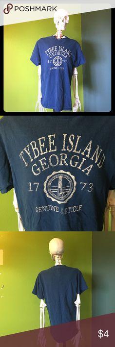 Tybee Island, GA Tshirt Delta Pro Weight Tybee Island, GA Tshirt. Navy blue. Size S delta pro weight Shirts Tees - Short Sleeve
