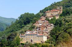 AFGCX6 Collodi village Tuscany Italy