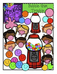 Bubble Gum Trouble product from Creative Clips Clipart on TeachersNotebook.com