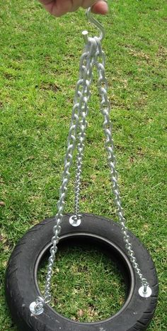 How to make a tire swing, on Instructables. Lots of good comments.