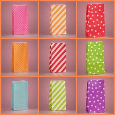 Put Your Party Favors In Colorful Printed Paper Bags So Cute Especially For A