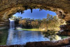 Underground Swimming Hole in Texas - Way cool!!