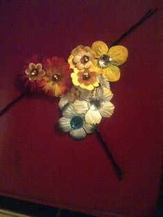 Flower hairpins