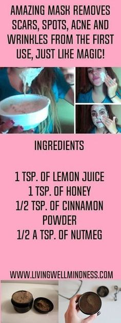 Bothered not just by scars, but wrinkles, too? With just cinnamon powder, honey, nutmeg and lemon juice, here's a recipe for a homemade mask that can literally change your life. #homemadefacemasksforwrinkles