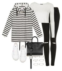 """""""Sin título #3843"""" by marianaxmadriz ❤ liked on Polyvore featuring Topshop, Zara, Yves Saint Laurent, Superga, Forever 21 and J.Crew"""