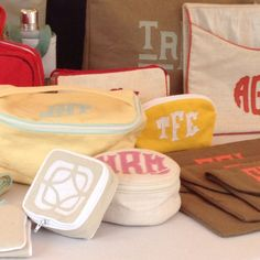 Leontine Linens jewelry pouches and make up bags...love