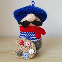 Henri the Artist, toy knitting pattern by Amanda Berry