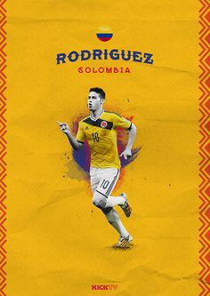 Copa Amárica 2015 on Behance / James Rodríguez / Colombia