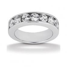 14k White Gold Womens Diamond Anniversary Or Wedding Band Containing 1.4 Carats Of Diamonds In Hi Color And Si1-si2 Clarity
