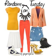 A fashion look from June 2012 featuring applique shirts, button pocket jeans and white knee length skirt. Browse and shop related looks. Mix N Match, Fashion Looks, Skirts, Polyvore, Shopping, Skirt, Gowns, Skirt Outfits