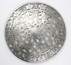 Antique Early 20c Large Ornate Webster Sterling Silver Overlay Crystal Trivet in Antiques, Silver, Sterling Silver (.925), Other Antique Sterling Silver   eBay