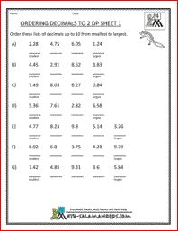 Worksheets Ordering Fractions From Least To Greatest Worksheet math worksheets 3rd grade place value to 10000 4 gif pixels projects try pinterest