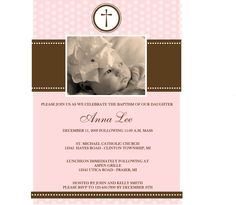 baptism invitations | invitations measure 4 x 6 each invitation comes with a