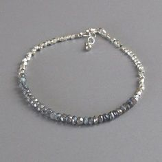 Silver Bead Mystic Labradorite Bracelet DJStrang by DJStrang