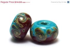 11105731  Pair of Turquoise & by gracebeads on Etsy
