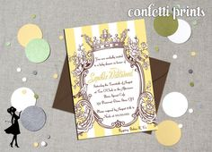 Baby Shower Invitation  SOPHIE Printable by ConfettiPrintsShop, $12.00