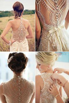spring 2015 wedding dresses, illusion back wedding dresses
