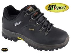 LADIES GRISPORT DARTMOOR Walking Shoes 3 4 5 6 7 8 9 BLACK LEATHER VIBRAM  SOLES  GRISPORT  WalkingHikingTrail 1d45c362d