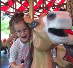 Six Flags FUN! Merry go rounds and lollipops